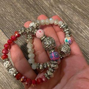 Two piece charm bracelets